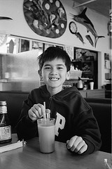 Johnny with milkshake