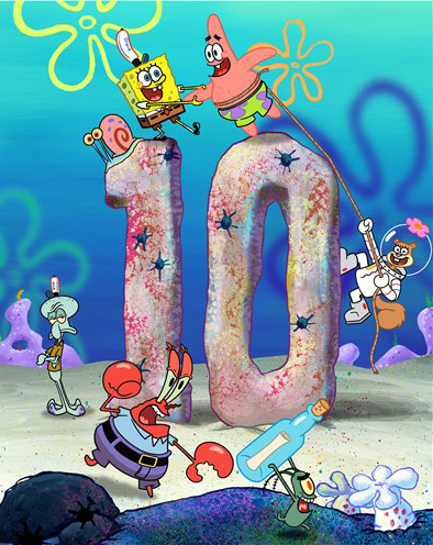 NICKELODEON SPONGEBOB 10 YEARS